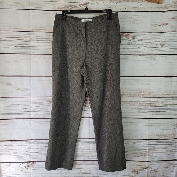 MaxMara   Wool Silk Tweed Pants Made in Italy